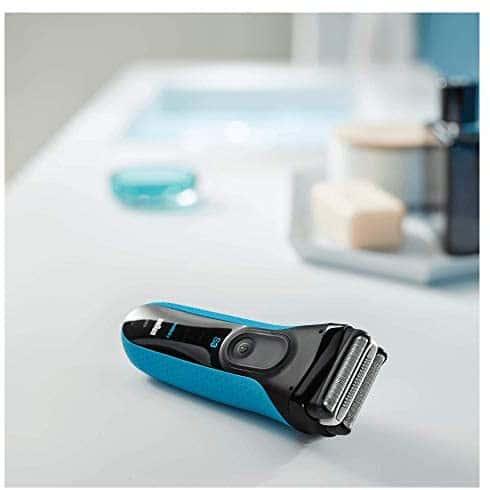 Braun Series 3 ProSkin 3040 s - Afeitadora Eléctrica Hombre, para Barba, Inalámbrica, Recargable, Wet&Dry (Seco y Mojado), Recortadora Extraíble, Azul
